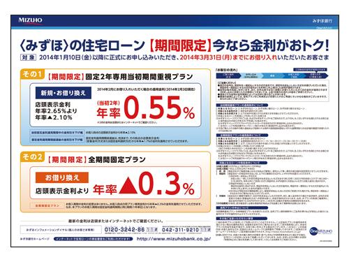 みずほ銀行 住宅ローン 相談会ポスター